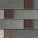 Inox chrome graffiato mosaico sin fin