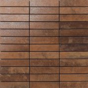 Metal copper lappato mosaico