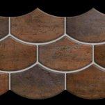 Nanocorten copper lappato mosaico flake