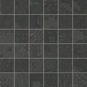 Rendering black natural mosaico decor