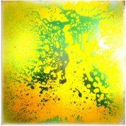 Живая плитка жёлто-зелёная (П301)
